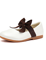 cheap -Girls' Shoes Faux Leather Spring / Fall Comfort / Flower Girl Shoes Flats Bowknot / Gore for Kids White / Black / Pink / Wedding / Party & Evening