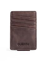 cheap -Men's Bags Nappa Leather Wallet Zipper Gray / Coffee