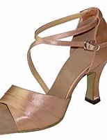 economico -Per donna Scarpe per balli latini Raso Tacchi Tacco alto sottile Scarpe da ballo Rosa