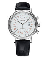 cheap -YAZOLE Men's Wrist Watch Calendar / date / day / Casual Watch / Cool PU Band Luxury / Casual Black / Brown