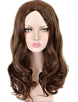 cheap -Synthetic Wig / Cosplay & Costume Wigs / Hair Weft with Closure Curly Layered Haircut Synthetic Hair Fashionable Design / Synthetic / Lovely Brown Wig Women's Long Capless / Natural Hairline