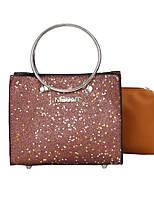 cheap -Women's Bags PU(Polyurethane) Tote Sequin Black / Gray / Brown