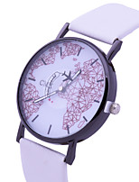 cheap -Women's Wrist Watch Casual Watch / Lovely PU Band Fashion / World Map Black / White