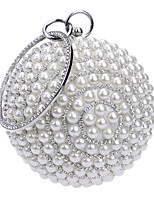 cheap -Women's Pearls Polyester Evening Bag Solid Color Black / Gold / Silver