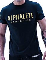 economico -Per uomo T-shirt da corsa - Nero, Arancione, Blu Gli sport Lettere & Numeri T-shirt Maniche corte Abbigliamento sportivo Morbidezza