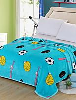 cheap -Coral fleece, Reactive Print Cartoon Polyester Blankets
