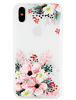 economico -Custodia Per Apple iPhone X / iPhone 8 Ultra sottile Per retro Fiore decorativo Morbido TPU per iPhone X / iPhone 8 Plus / iPhone 8