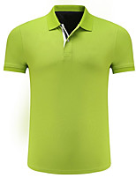 cheap -Men's Polo - Solid Colored Shirt Collar / Short Sleeve