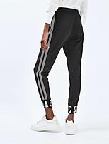 abordables -Femme Pantalon de Survêtement - Noir, Gris Des sports Bas Yoga, Exercice & Fitness Tenues de Sport Confortable Micro-élastique