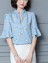 cheap -Women's Basic / Street chic Blouse - Floral Print