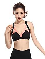abordables -Venus Queen Soutien-Gorges de Sport Rembourré Soutien Moyen pour Yoga / Pilates / Exercice & Fitness - Noir / Orange Séchage rapide,