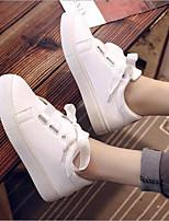 Недорогие -Жен. Обувь Полиуретан Весна лето Удобная обувь Кеды На плоской подошве Белый / Синий / Розовый