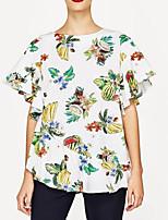 cheap -Women's Basic T-shirt - Fruit Print