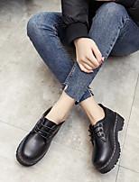 abordables -Femme Chaussures Polyuréthane Printemps Confort Oxfords Talon Bas Noir
