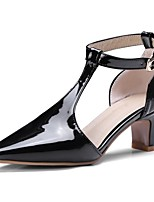 cheap -Women's Shoes PU(Polyurethane) Spring & Summer Basic Pump Heels Kitten Heel Pointed Toe Gold / Black / Silver