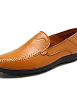 cheap -Men's Shoes Cowhide Summer Comfort Loafers & Slip-Ons Black / Yellow / Brown