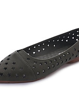 cheap -Women's Shoes PU(Polyurethane) Summer Comfort Flats Flat Heel Pointed Toe Black / Army Green / Red