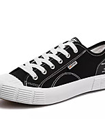 cheap -Men's Shoes Canvas / Fabric Fall Comfort Sneakers White / Black / Red