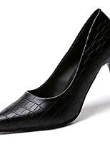 abordables -Mujer Zapatos PU Primavera verano Pump Básico Tacones Tacón Stiletto Dedo Puntiagudo Blanco / Negro