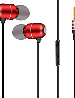 cheap -JTX S901 In Ear Wire Headphones Microphone Aluminum Alloy Sport & Fitness Earphone with Microphone / with Volume Control Headset