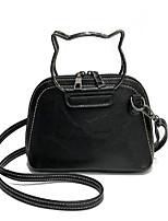 cheap -Women's Bags PU(Polyurethane) Shoulder Bag Zipper Black / Dark Green / Brown