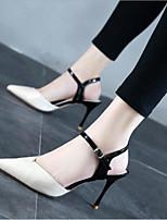 abordables -Mujer Zapatos PU Verano Innovador Tacones Tacón Stiletto Dedo Puntiagudo Hebilla Beige / Nudo / Fiesta y Noche