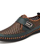 cheap -Men's Shoes Faux Leather Summer Moccasin / Driving Shoes Loafers & Slip-Ons Gray / Brown / Green