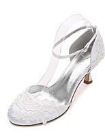 abordables -Femme Chaussures Satin Printemps Confort / D'Orsay & Deux Pièces / Escarpin Basique Chaussures de mariage Talon Bobine Bout rond Fleur en