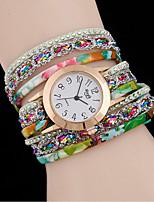preiswerte -L.WEST Damen Armband-Uhr Chinesisch Armbanduhren für den Alltag Legierung Band Freizeit / Modisch Schwarz / Weiß / Rot