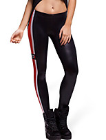 cheap -Women's Daily Sporty Legging - Geometric / Color Block Mid Waist