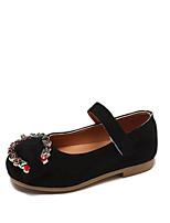 cheap -Girls' Shoes Suede Summer Ballerina Flats Walking Shoes Rhinestone for Kids Black / Pink / Light Blue