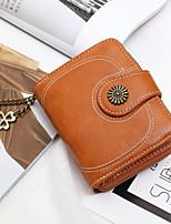 cheap -Women's Bags PU Leather Wallet Zipper Yellow / Brown / Wine