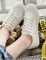 Недорогие -Жен. Обувь Полотно Весна Удобная обувь Кеды На плоской подошве Желтый / Зеленый / Розовый