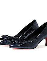 abordables -Mujer Zapatos Cuero de Napa Primavera Confort / Pump Básico Tacones Tacón Stiletto Negro / Rojo