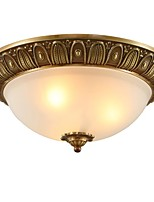 baratos -QIHengZhaoMing 3-luz Montagem do Fluxo Luz Ambiente 110-120V / 220-240V, Branco Quente, Lâmpada Incluída