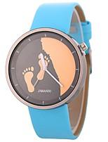 cheap -Xu™ Women's Wrist Watch Chinese Creative / Adorable / Large Dial PU Band Minimalist / Skeleton Black / White / Blue
