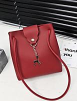 cheap -Women's Bags PU(Polyurethane) Shoulder Bag Buttons Red / Blushing Pink / Gray