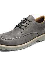 cheap -Men's Shoes Nappa Leather Spring Light Soles Sneakers Black / Gray / Army Green