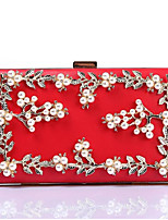 cheap -Women's Bags PU(Polyurethane) Evening Bag Crystals Black / Red / Blushing Pink