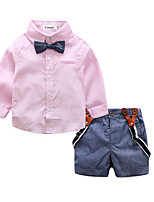 cheap -Toddler Boys' Patchwork Long Sleeve Clothing Set