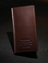 cheap -Men's Bags PU(Polyurethane) Wallet Buttons Black / Dark Brown