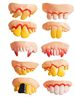 cheap -Halloween Prop Funny Creative / Tooth / 10 pcs Pieces All Adults' Gift