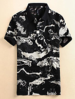 cheap -Men's Vintage / Chinoiserie Polo - Floral