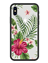 economico -Custodia Per Apple iPhone X / iPhone 8 Plus Fantasia / disegno Per retro Piante / Cartoni animati / Fiore decorativo Resistente Acrilico per iPhone X / iPhone 8 Plus / iPhone 8