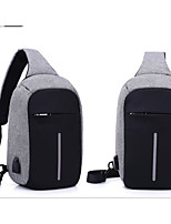 cheap -Men's Bags Polyester Shoulder Bag Zipper Black / Purple / Light Grey