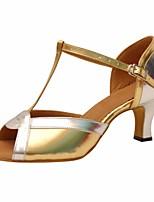 economico -Per donna Scarpe per balli latini PU (Poliuretano) Tacchi Tacco alto sottile Scarpe da ballo Oro / Prestazioni / Di pelle / Da allenamento