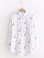 cheap -Women's Basic Shirt - Geometric Shirt Collar