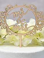cheap -Cake Topper Classic Theme / Wedding Cut Out Wooden / Bamboo Wedding / Birthday with Sided Hollow Out 1 pcs OPP