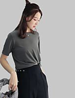 cheap -Women's T-shirt - Solid Colored Patchwork