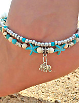 cheap -Turquoise Anklet - Elephant, Animal Vintage, Bohemian, Fashion Turquoise For Going out / Bikini / Women's